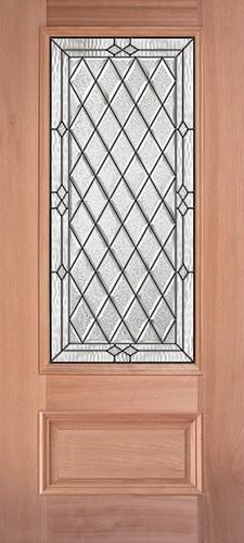 Diamond 3 4 Lite Mahogany Wood Door Slab 274 Mahogany Doors Wood Exterior Door Mahogany Exterior Doors