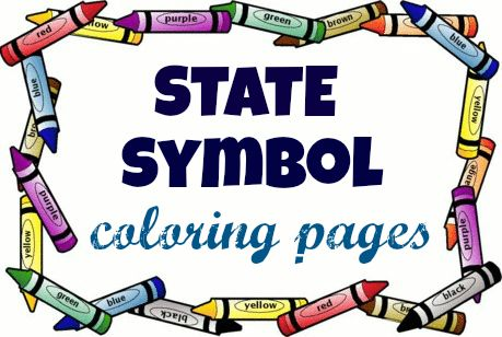State Symbol Coloring Pages By Usa Facts For Kids Homeschool