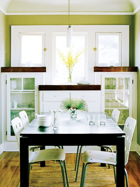 Sleek Gl Front Built Ins Give This San Go Dining Room Personality And
