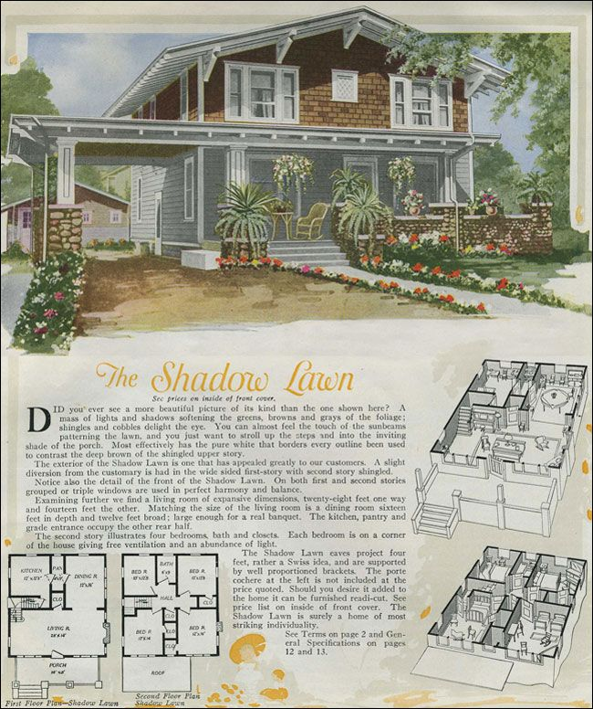 The two story shadow lawn is a handsome plan based on a for Swiss chalet plans