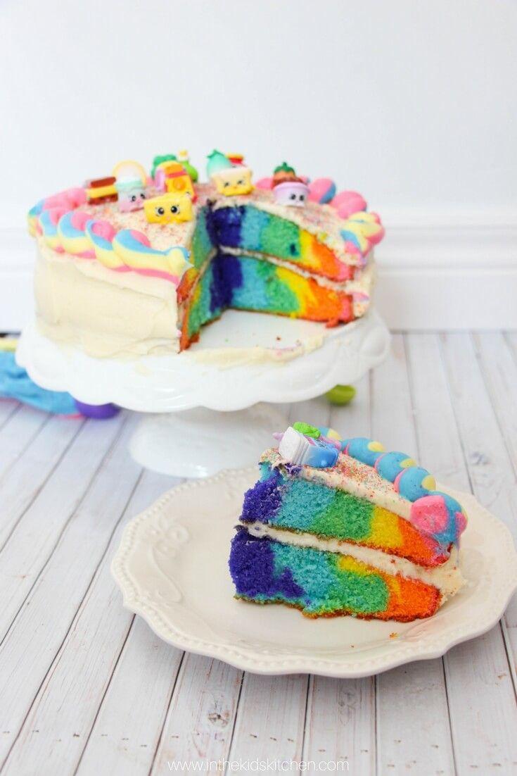 Rainbow Shopkins Cake | Recipe | Shopkins cake, Shopkins and Rainbows