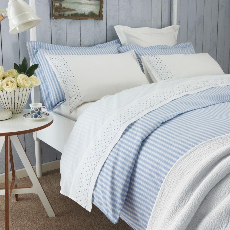Luxury Blue White Striped Duvet Covers Sanderson Bedding