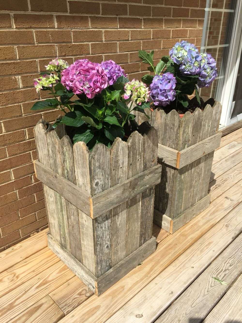 Diy planter boxes from discarded fence posts happy mother