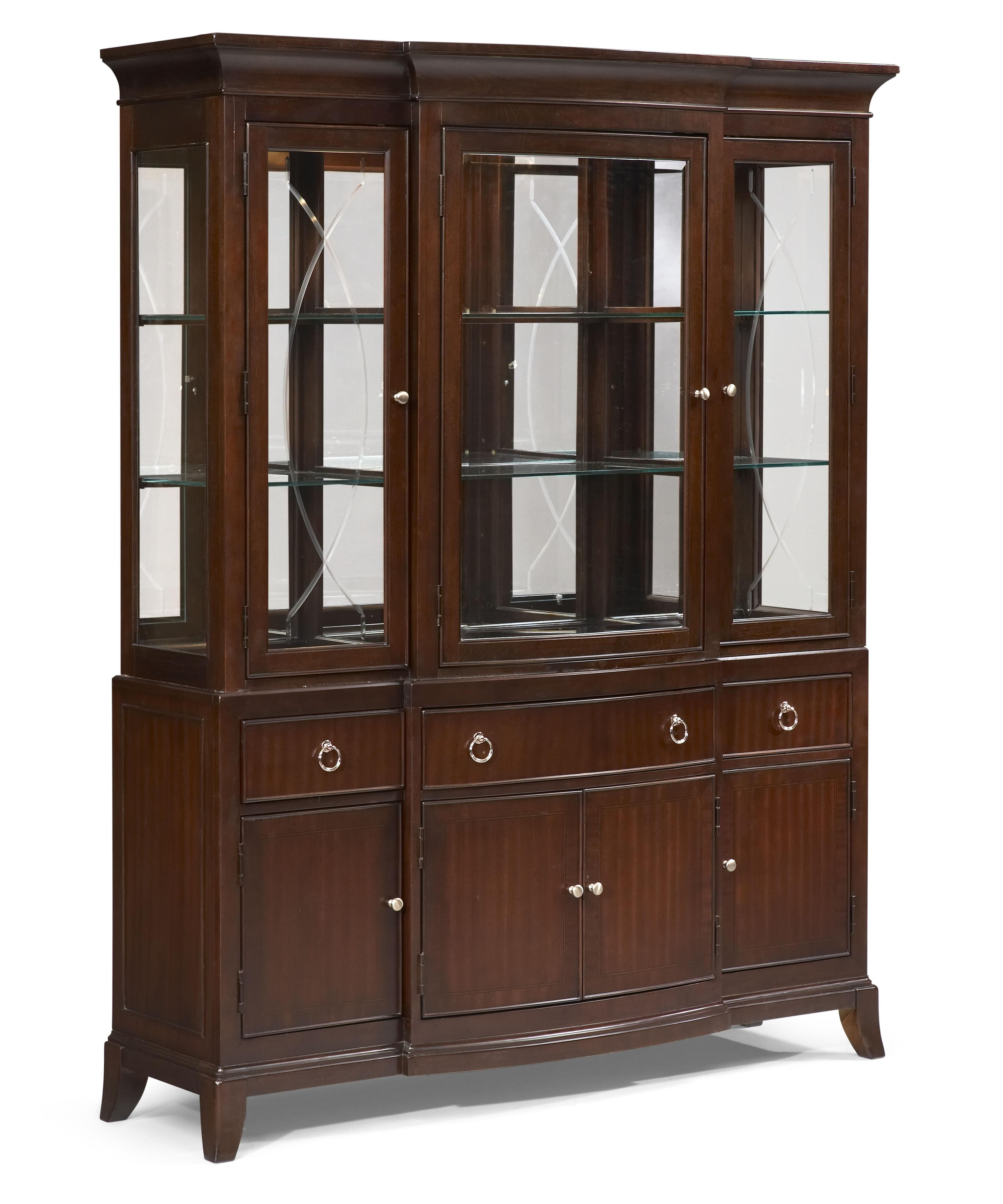 Legacy Classic Laurel Heights 3-Door Etched Glass Curio Cabinet with ...