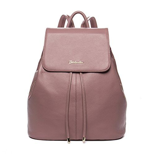 9e0bab9628 BOSTANTEN Vintage Womens Leather Backpack Casual Daypack Handbags for  Ladies Girls Pink   To view further for this item