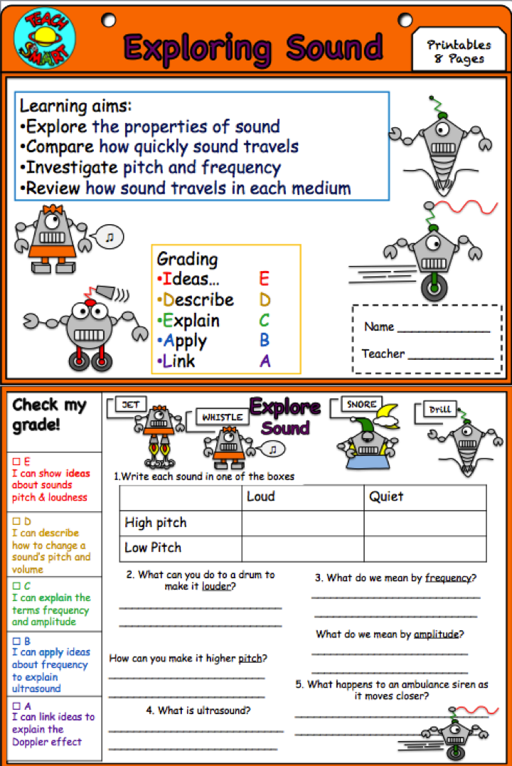 sound and waves interactive notebook worksheets students and