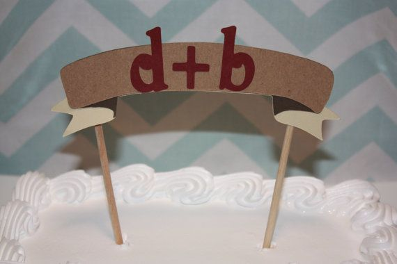 Rustic Wedding Cake Topper by SimplyScissors on Etsy, $10.00