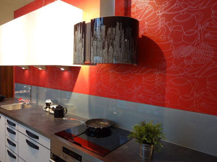 wandpaneele f r k che als spritzschutz und dekorative tapete k che kitchen kitchen. Black Bedroom Furniture Sets. Home Design Ideas