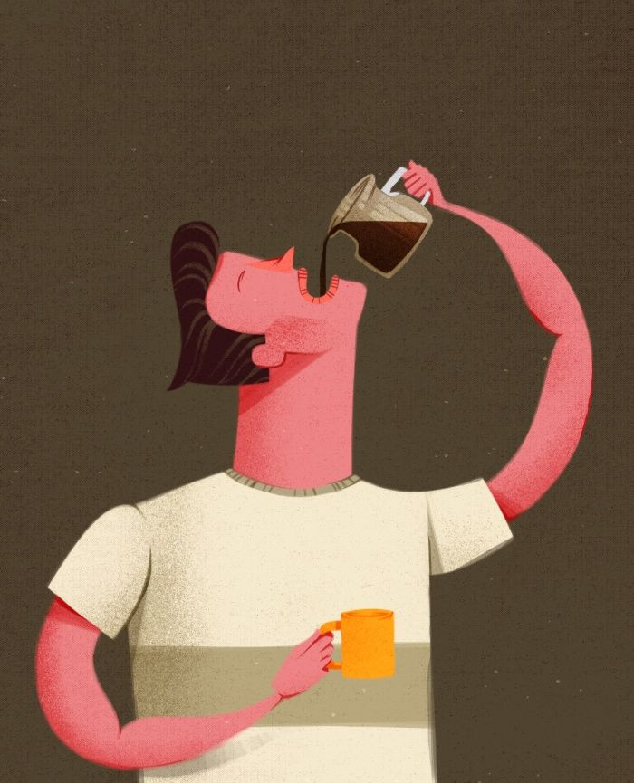 Coffee Drinker Art Print by Caio Beltrão | Ilustract | Society6