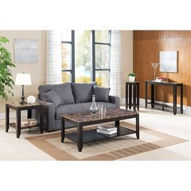 Enitial Lab Medina 4 Piece Cappuccino Accent Table Set Idi 14995 X4 4 Piece Coffee Table Set Table Sofa End Tables