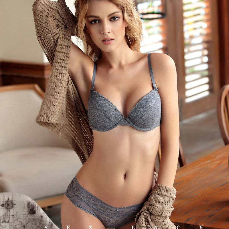 b4d2f0b983 Sexy push up thin cup lace bra set Women s underwear Brief for women bra  set lingerie