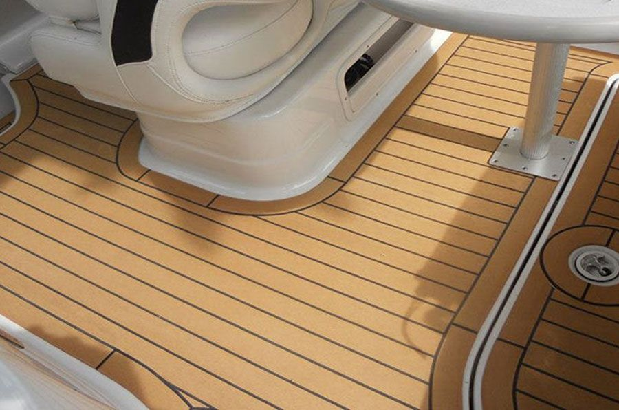 boat floor replacement composite material  Synthetic Teak