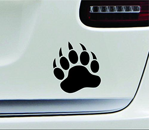 Bear Paw Silhouette Nature Claw Danger Computer Laptop Symbol Decal Family Love Car Truck Sticker Window Black ** Find out more about the great product at the image link.Note:It is affiliate link to Amazon.