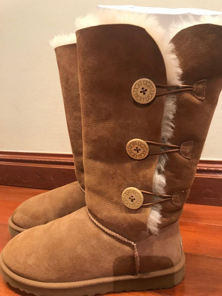 7991de1a794 eBay link) UGG Boot Bailey Button Tall Chestnut Size 10 US Womens ...