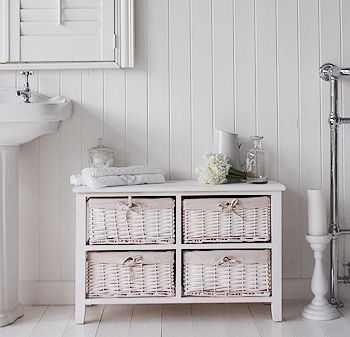 Newport white basket low cabinet for storage. Newport white basket low cabinet for storage   Bathroom