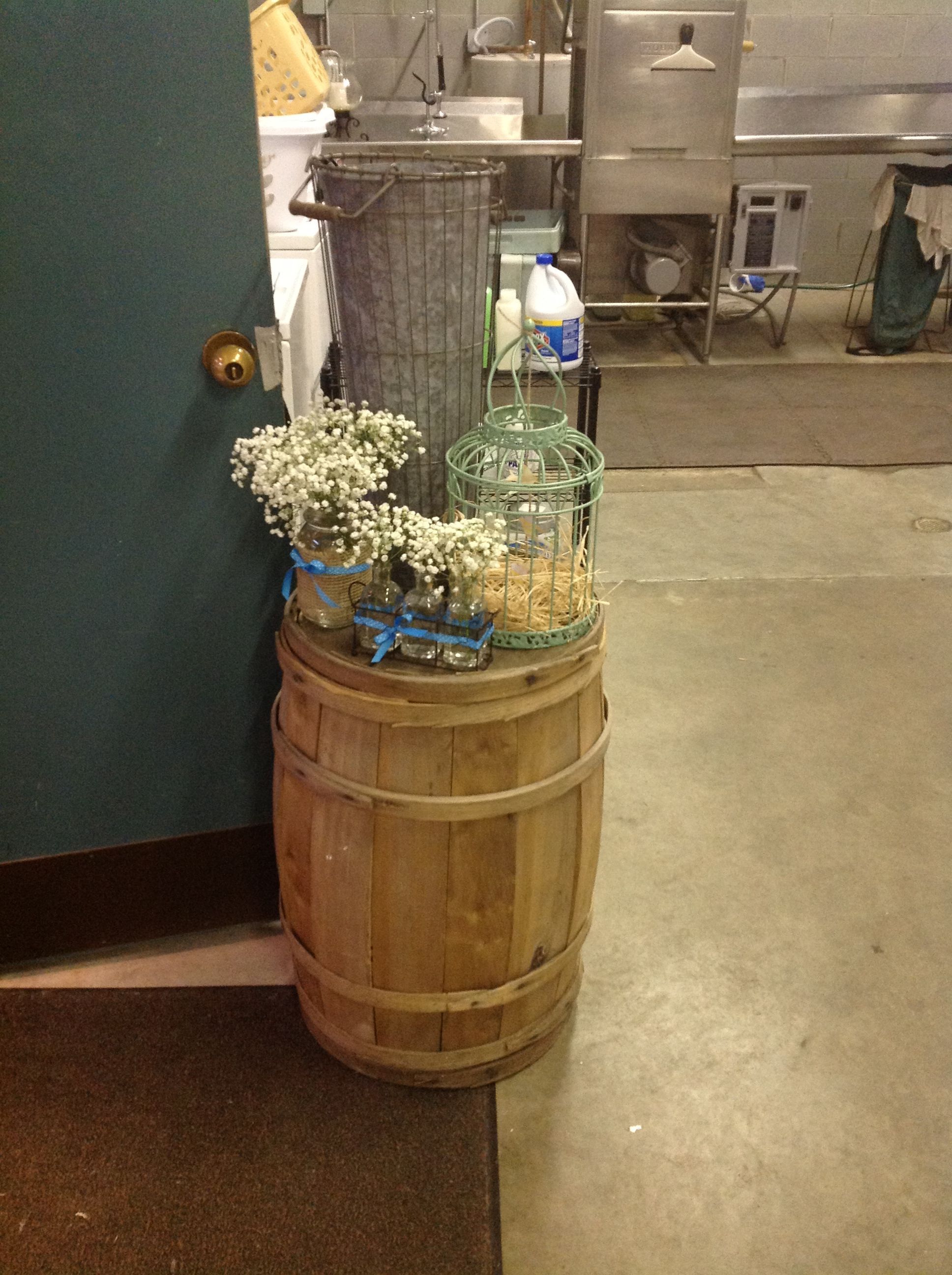 Another Look For The Rustic Barrel Galvanized Pot, Birdcage, Babys