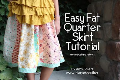 Fat Quarter Gang - Easy FQ Skirt Tutorial by Diary of a Quilter #ArtGalleryFabrics #Quilting #Quilts #Fabric #Thread #Trend #Design