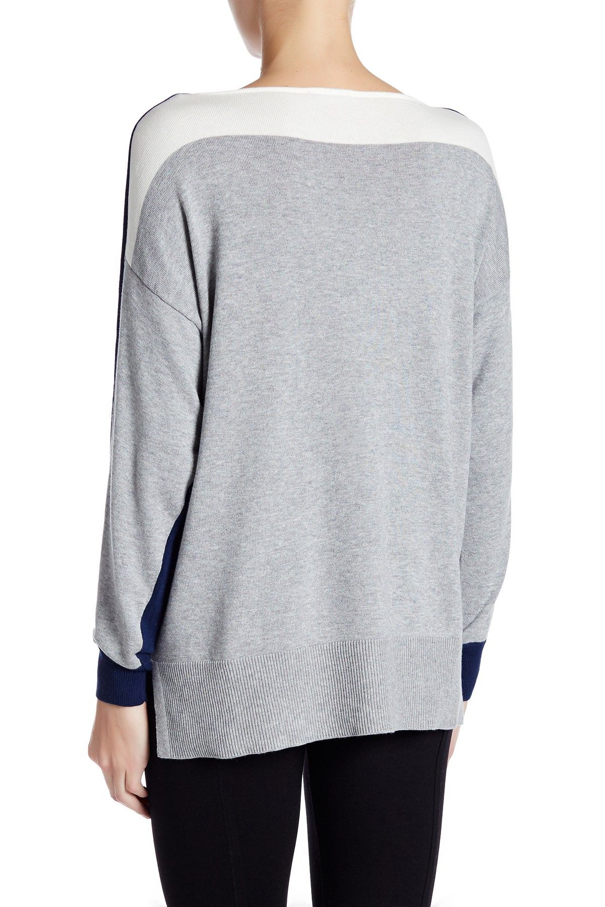66f1d3f475 Colorblock Boatneck Sweater by Vince Camuto on  nordstrom rack