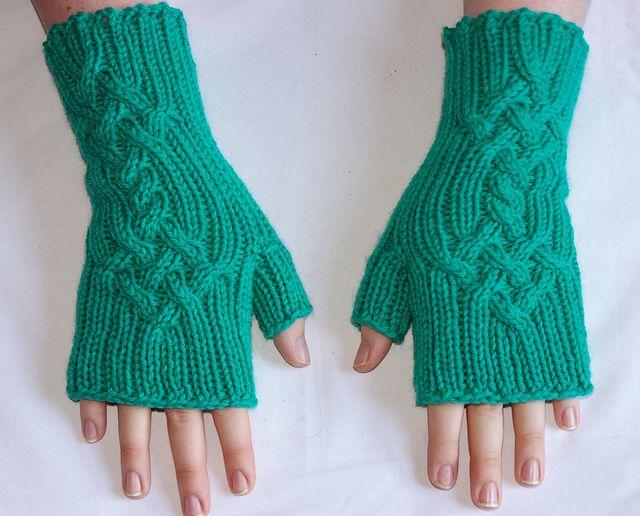 Patrón para tejer mitones | Bricolaje y manualidades | Pinterest ...