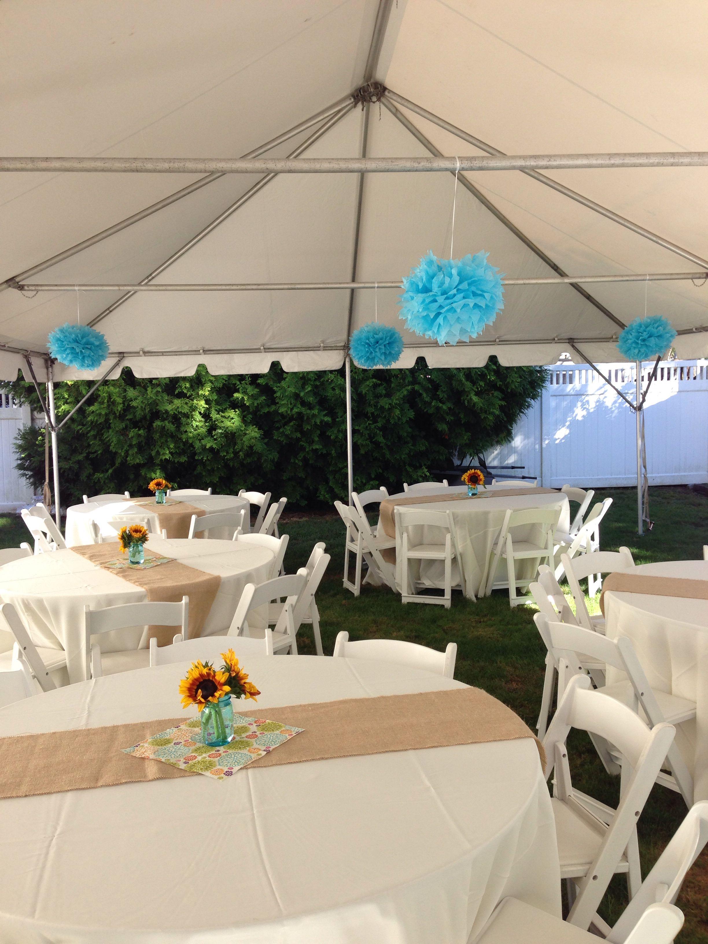 Backyard Christening Celebration Christening Decoration Ideas
