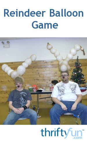 Reindeer Balloon Game Family christmas, Gaming and Christmas party