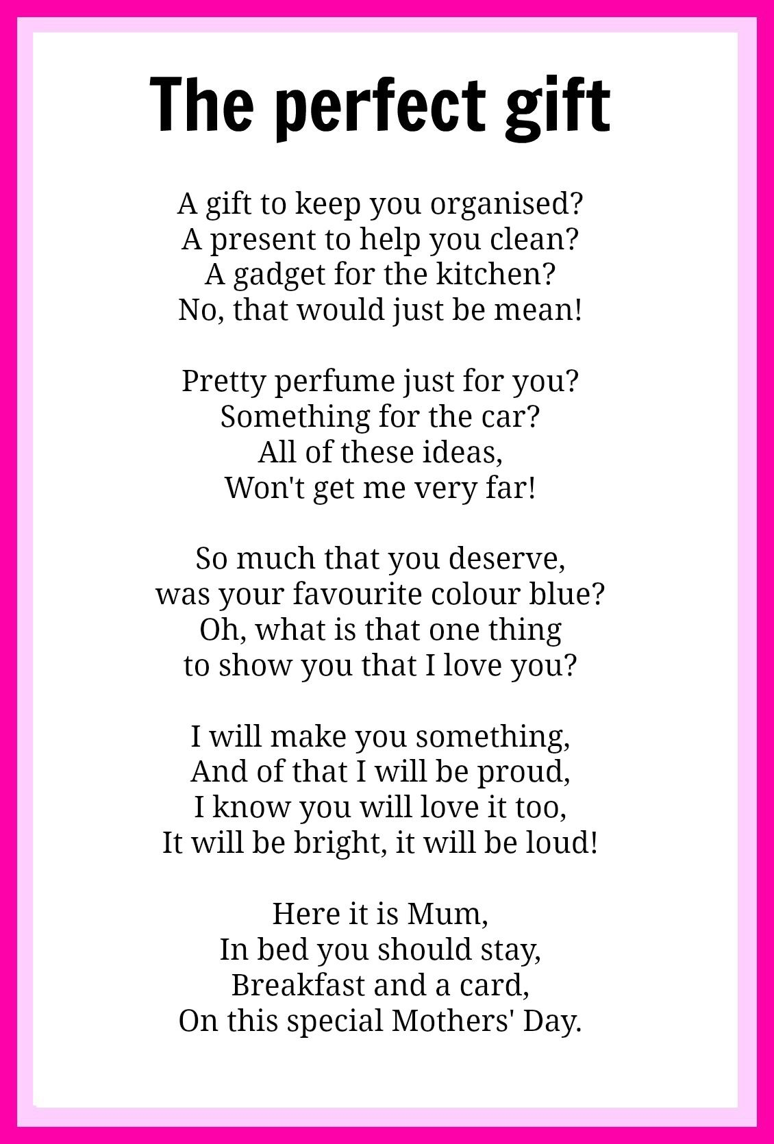 Mothers' Day poems | Poem, Gift and Craft gifts