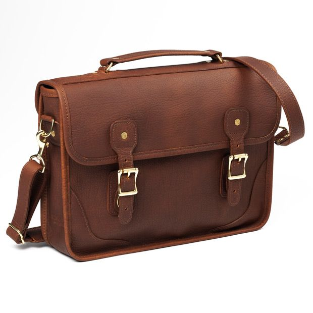 Allen Edmonds Brief Bag By Jw Hulme Exclusive For 741ae American Bison Leather