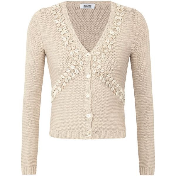 Moschino Cheap and Chic Embellished Knitted Cotton Cardigan ($535 ...