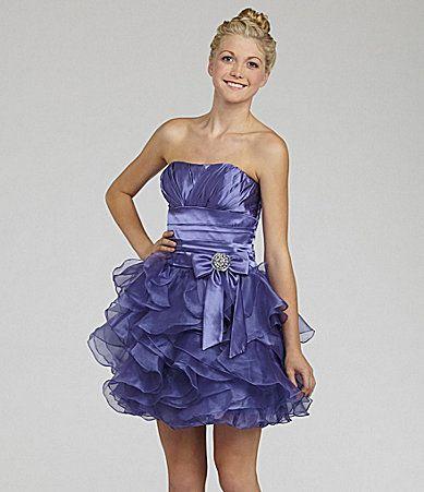 B Darlin Ruffled Cascade Dress Dillards Carli Pinterest
