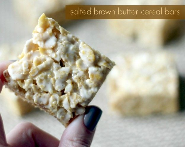 Salted Brown Butter Cereal Bars – Yes!