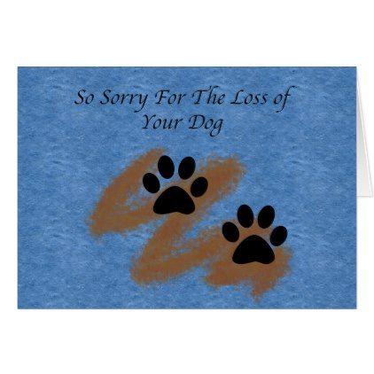 Loss of dog pet sympathy card loss of dog pet sympathy card cyo diy customize gift idea negle Images