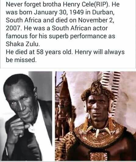 Henry Cele, South African Actor (Shakazulu)