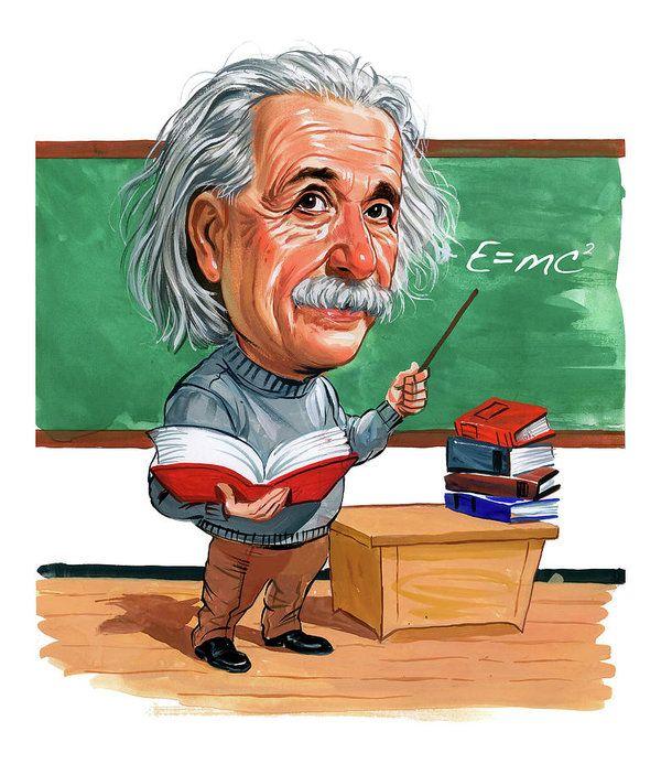 Albert Einstein Art Print By Art Caricature Albert Einstein Einstein
