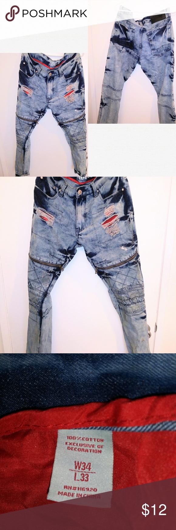 Rogue Blue Denim Distressed Jeans 34 33 Mens Pants Rogue Blue Denim Distressed Skinny Jeans 34 33 Men Distressed Skinny Jeans Distressed Jeans Skinny Jeans Men