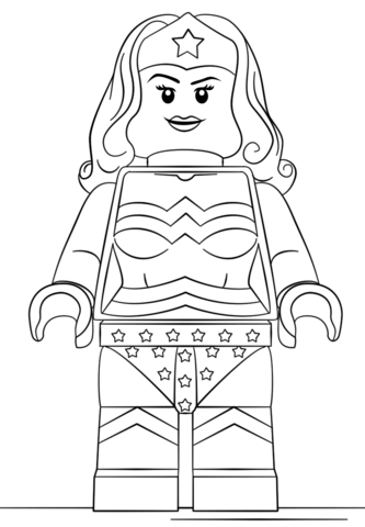 Lego Wonder Woman Coloring Page 333x480