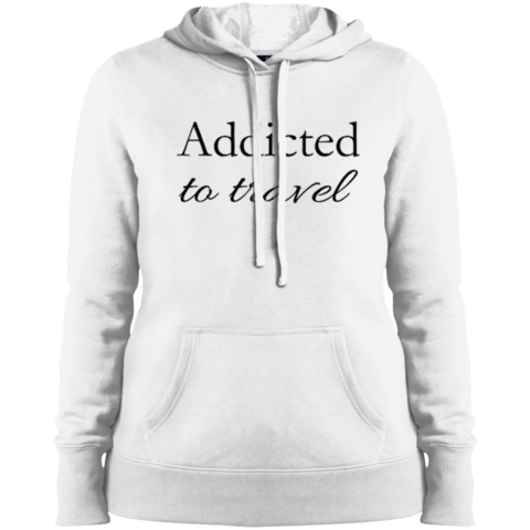 Addicted to Travel Ladies Hooded Pullover