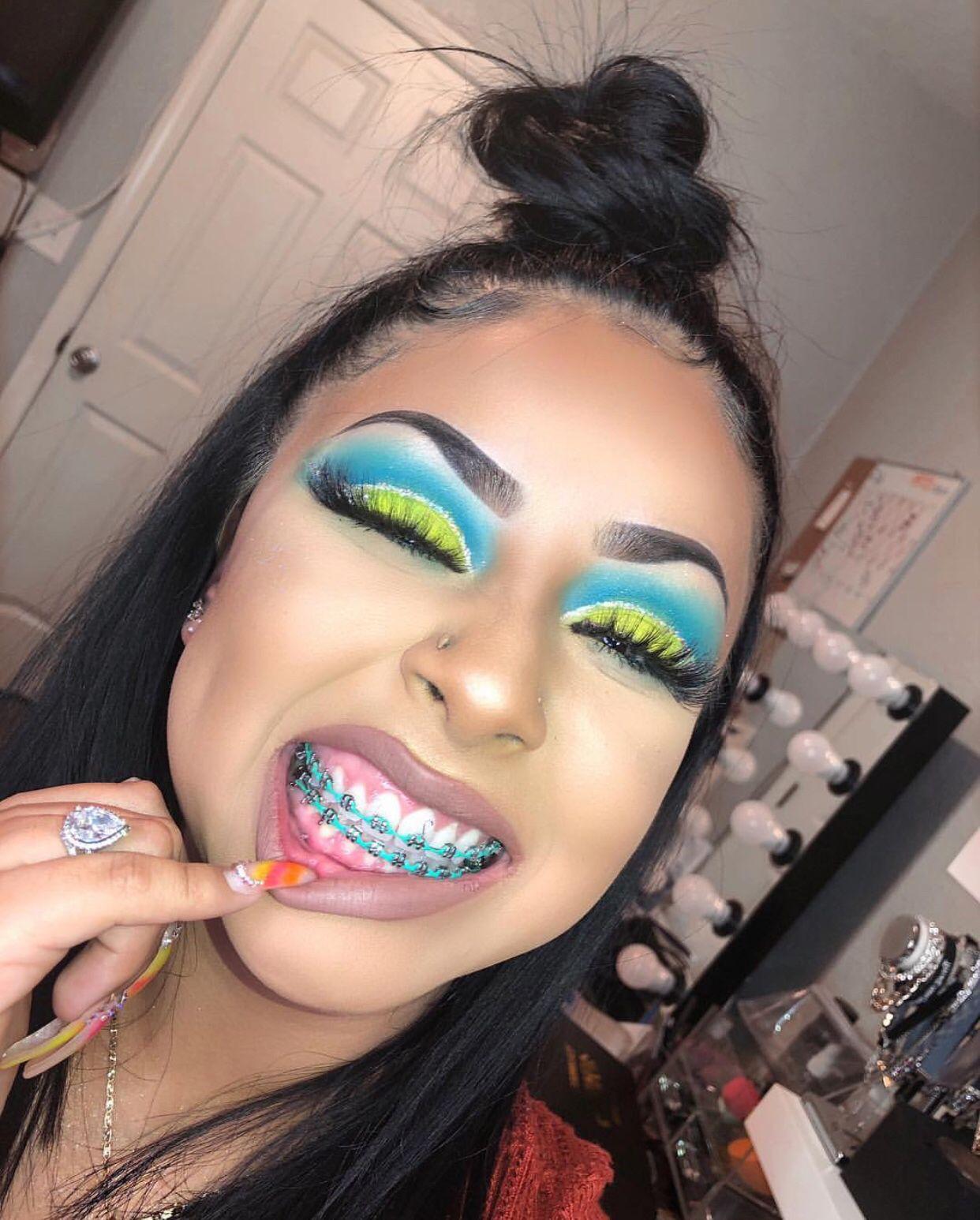 Pin Classy Gangstaa Makeup Eye Makeup Cute Braces