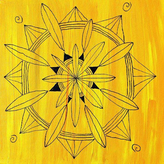 Shine original mandala painting by HeatherLCoxArt on Etsy