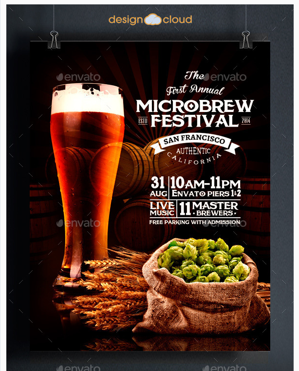 Microbrew Beer Festival Poster Flyer Template Party Flyer