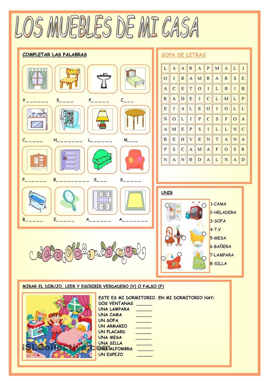 Los muebles de mi casa vocabulario pinterest espa ol for Mi casa hogar y muebles