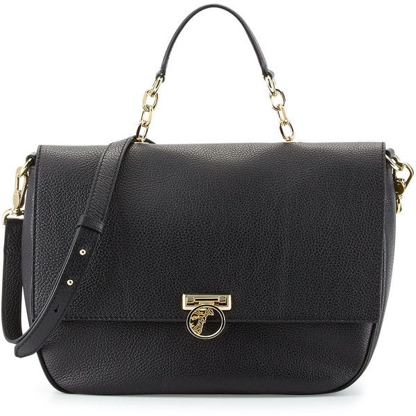 Versace Collection Pebbled Leather Flap Top Handle Bag Gmif9L7