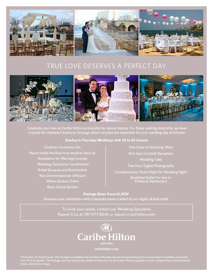 Check Out Caribe Hilton Wedding Package From