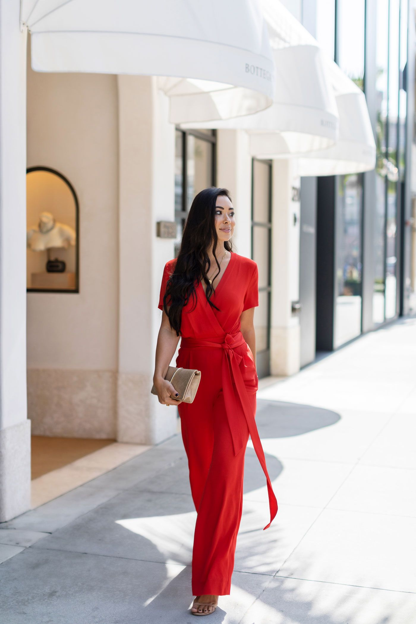 708f63be88a1 Diane Von Furstenberg Jumpsuit - With Love From Kat. Red Jumpsuit on Rodeo. Holiday  Party Outfit