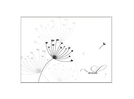 Wish Dandelion Seed Stationery Design - Sparetire Design