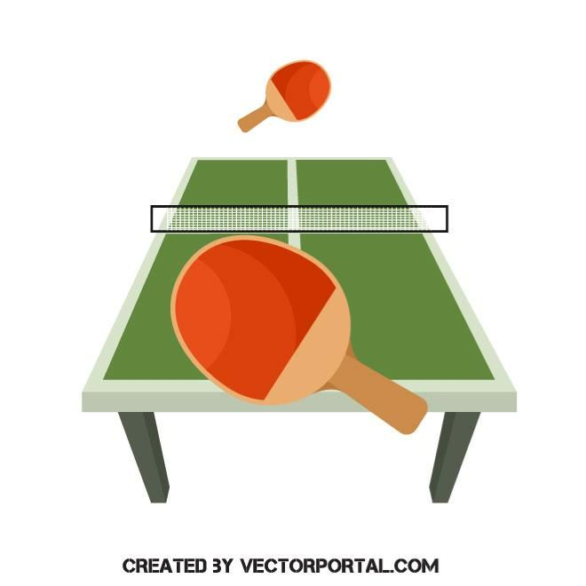 Table Tennis Vector Image Table Tennis Vector Free Table