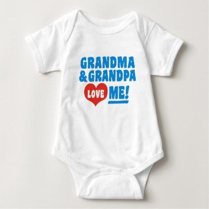 Baby Clothing Stores Near Me Captivating Grandma And Grandpa Love Me Baby Bodysuit  Baby Bodysuit Bodysuit Design Decoration