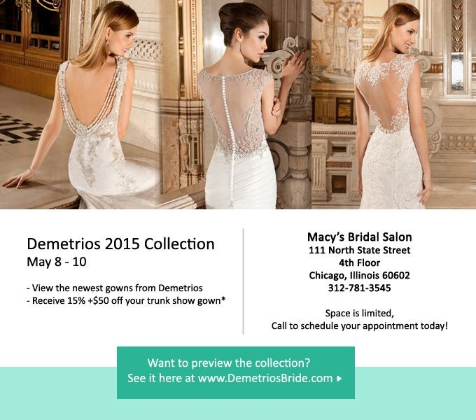 Newest Demetrios bridal gowns at Macy\'s Bridal Salon on State Street ...