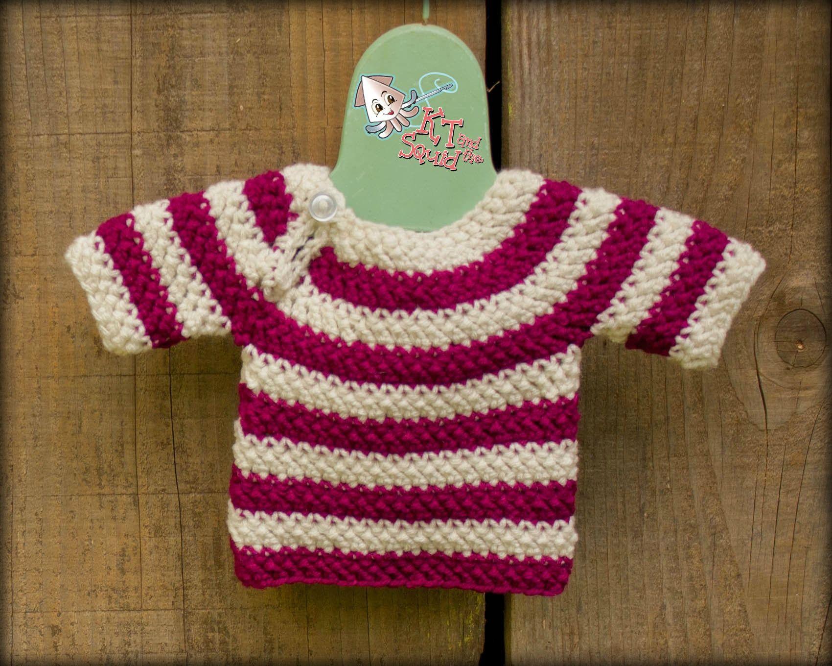 ef48b33a88d7 Easy Top Down Sweater Free crochet pattern