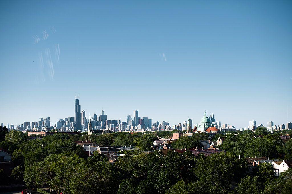 The view from the Skyline Loft at Bridgeport Art Center