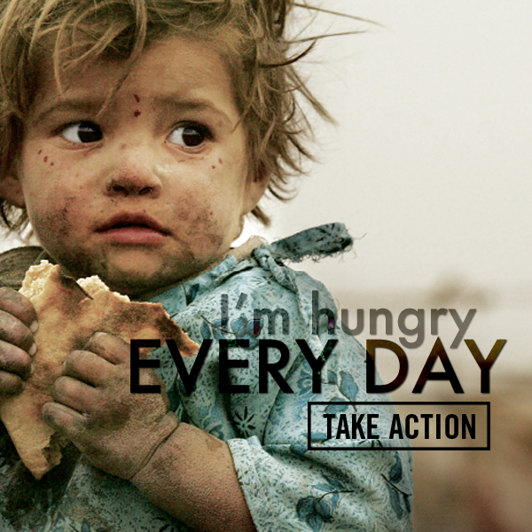 URGENT: 50 million people face hunger daily, while 40% of all food produced is wasted. This Thanksgiving, save this little guy from a lifetime of hunger.
